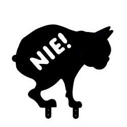 Schild - Kein Hundeklo - Kupol