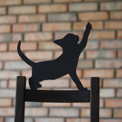 Figurka kota do ogrodu - Kot Ciapek wbity w ziemię