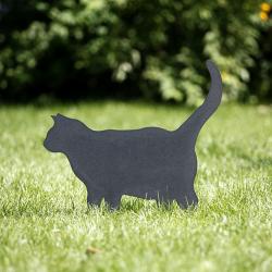 Gartenstecker Katze Metall Grubel