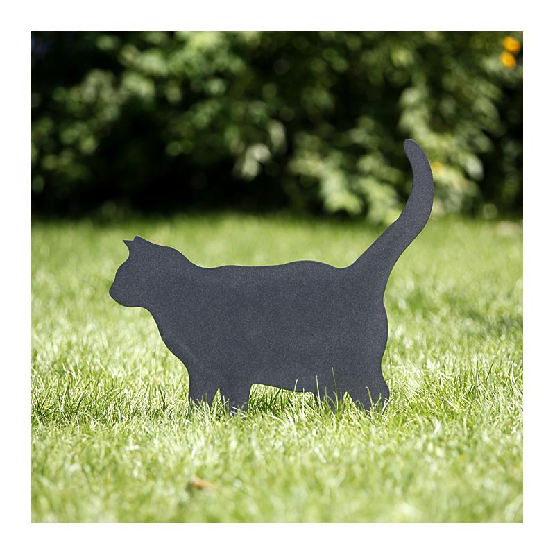 Kot Grubel wbity w trawnik