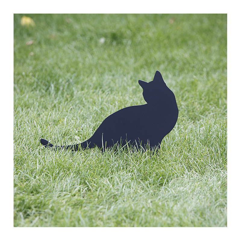 Figurka ogrodowa Kot Nana wbity w trawnik