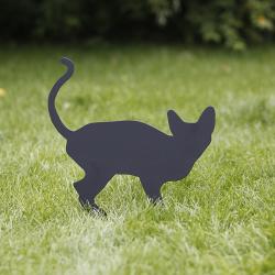 Kot Koreks wbity w trawnik