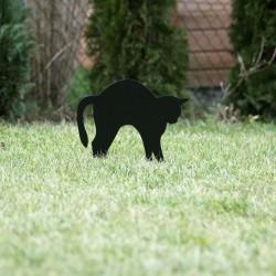 Straszak na gryzonie - Kot Fuslapa wbity w trawnik