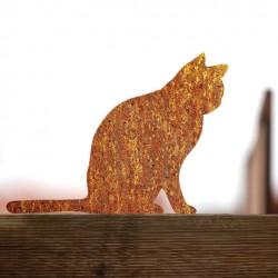 Kot rdzewiejący anatol na płocie