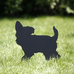 Pies Berdo przykręcony wbity w trawnik