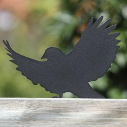Ptak Ptasior przykręcony do płotu