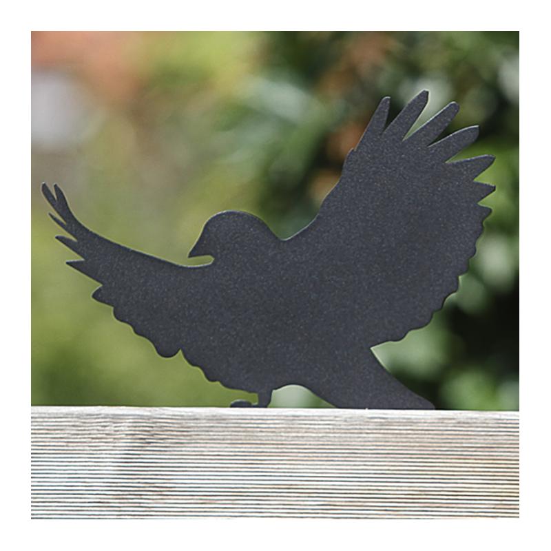 Ozdoba do ogródka Ptak Ptasior przykręcony do płotu