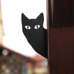 Wasyl śmieszny kot przykręcony do ogrodzenia