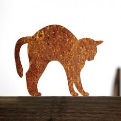 Gartendekoration Rostige Katze Fuslpa