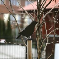Ozdoba ogrodowa Ptak Dreptak przykręcona palika