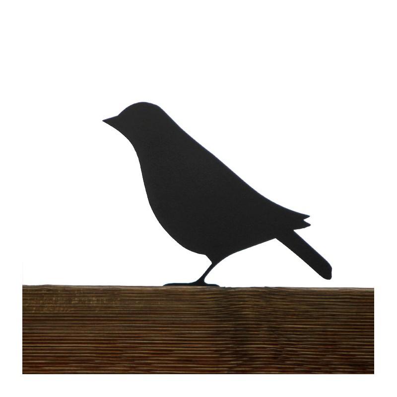 Ozdoba ogrodowa Ptak Dreptak przykręcona do płotu