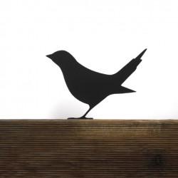 Ptak Ćwirek na płot, ozdoba ogrodowa