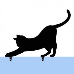 Czarny metalowy kot do...